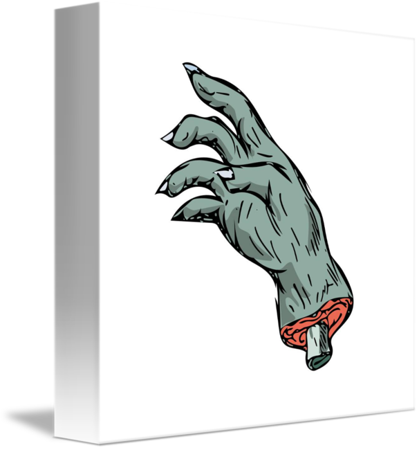 Mist drawing monster. Zombie hand by aloysius