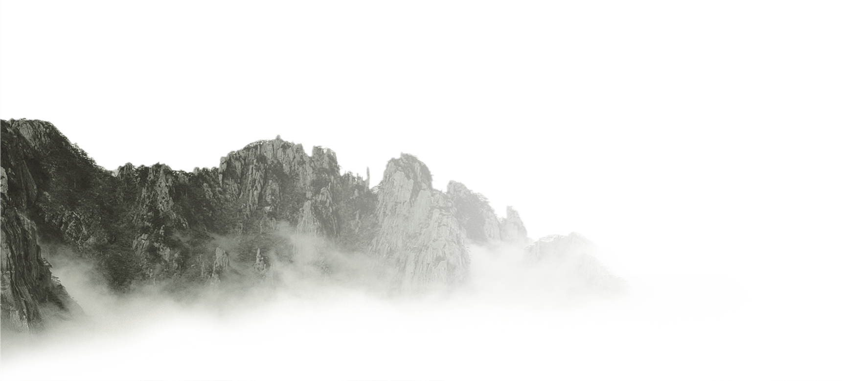 Mist vector mountain. Ink wash painting shan