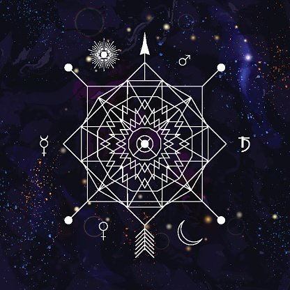 Mistica. Abstract mystical geometry symbol