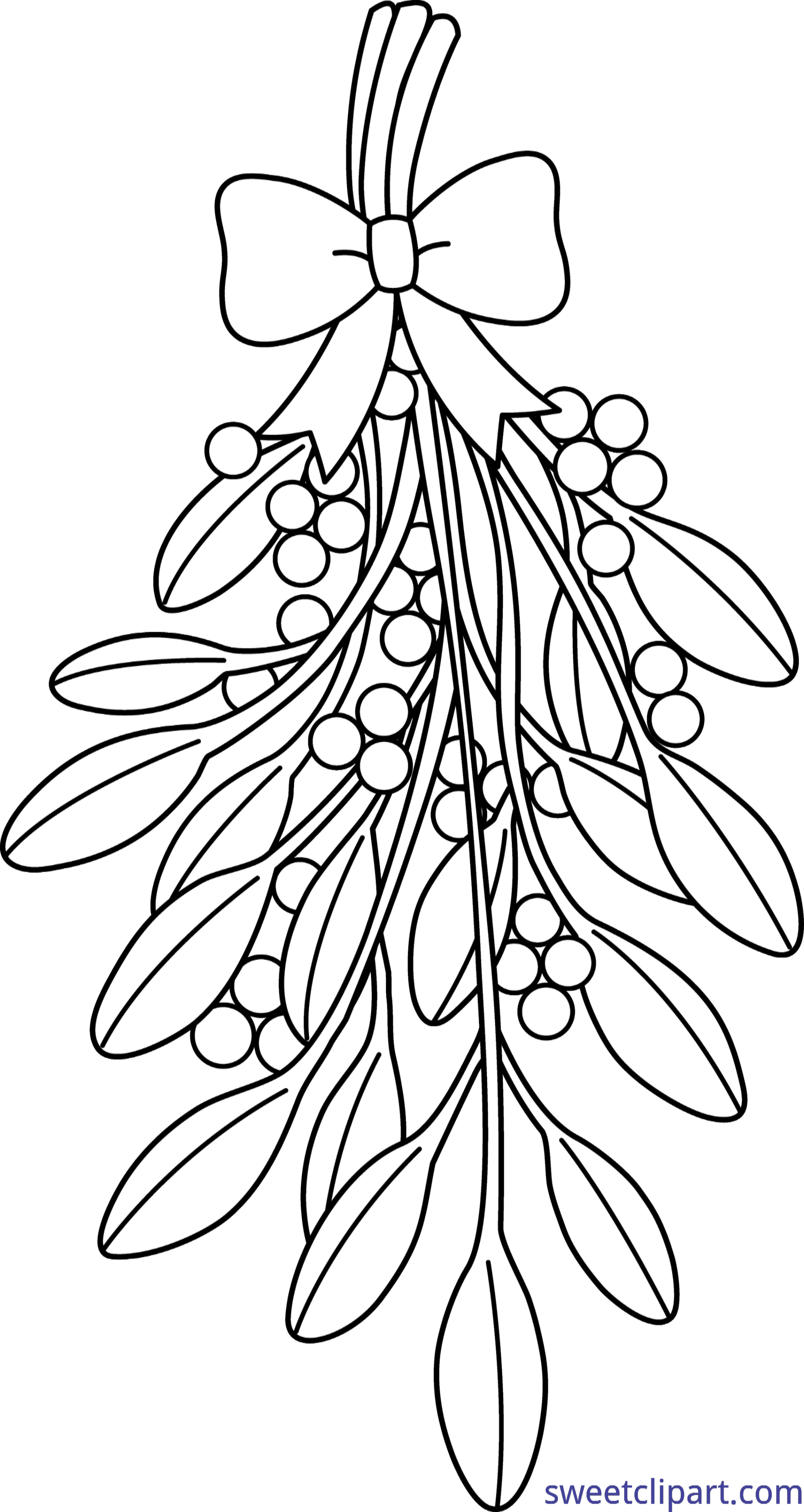 Mistletoe clipart tumblr transparent. Coloring page clip art