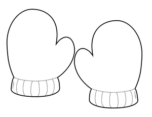 Mitten clipart mitten pattern. Mittens drawing at getdrawings