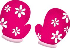 Mitten clipart pink. Purple mittens printable magnets