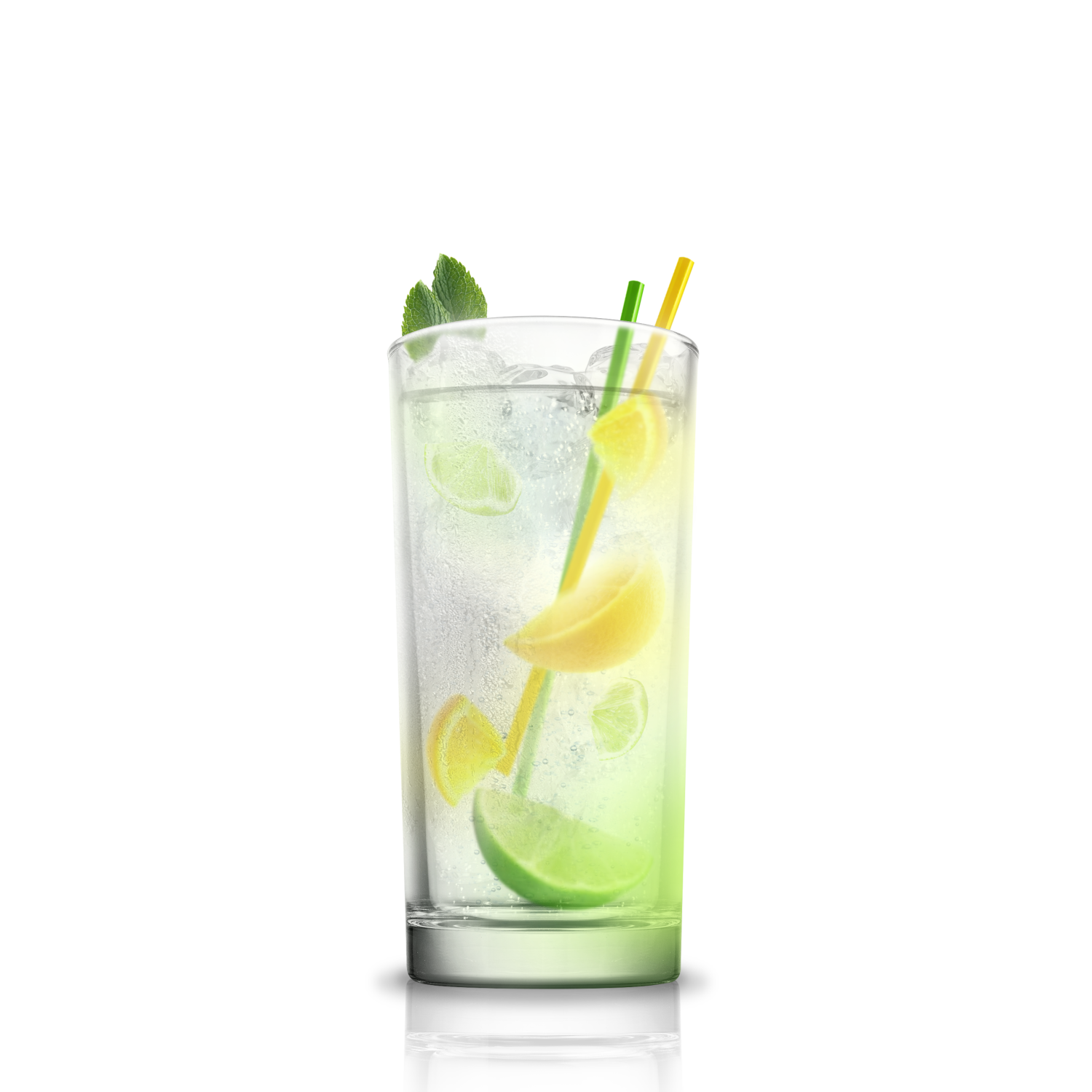 Mixed drink splash png. Gin tonic parts ice