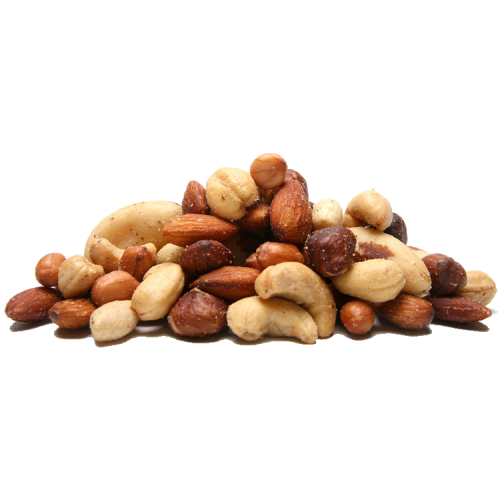 nuts transparent salted