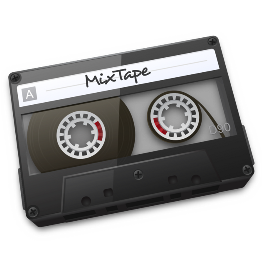 Mixtape drawing cassete. Cassette tape sticker by