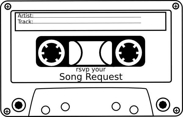 Song request hi png. Mixtape drawing casette tape jpg library download