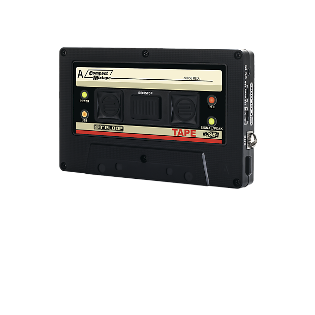 Mixtape drawing casette tape. Reloop usb recorder with