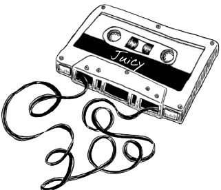 Mixtape drawing indie rock. Juiced audio dj service