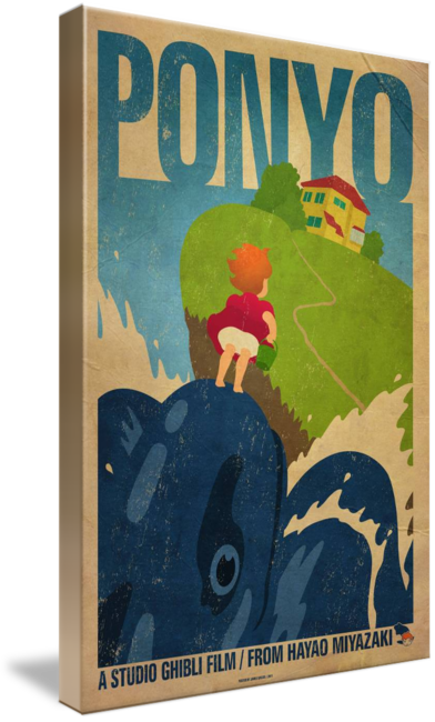 Transparent imbd poster. Ponyo by james bacon