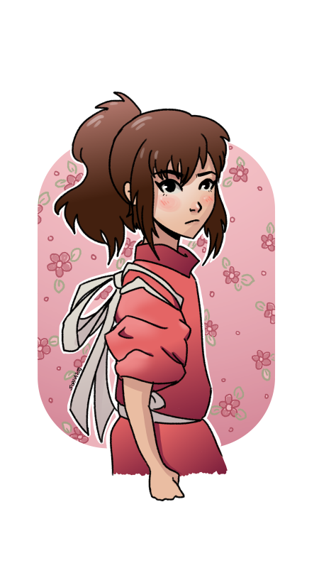 Studio drawing digital. Spirited away chihiro fanart