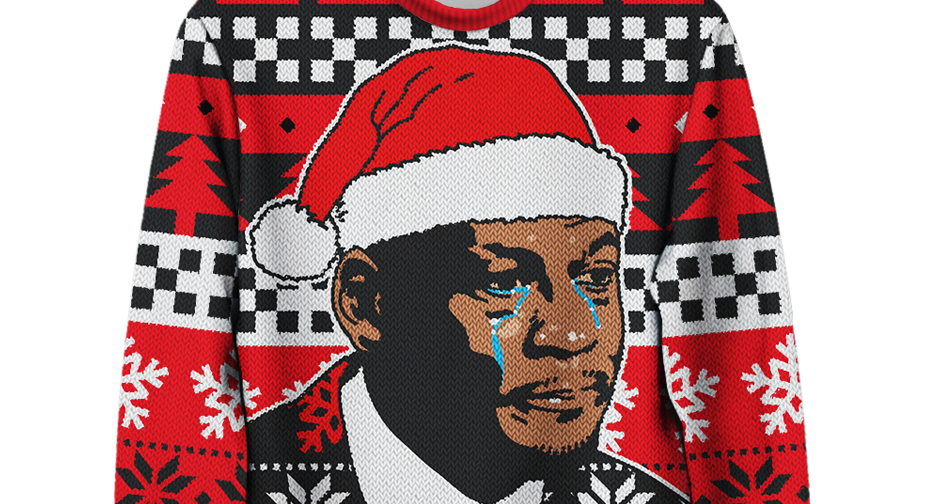 Mj crying face png. The christmas sweater is