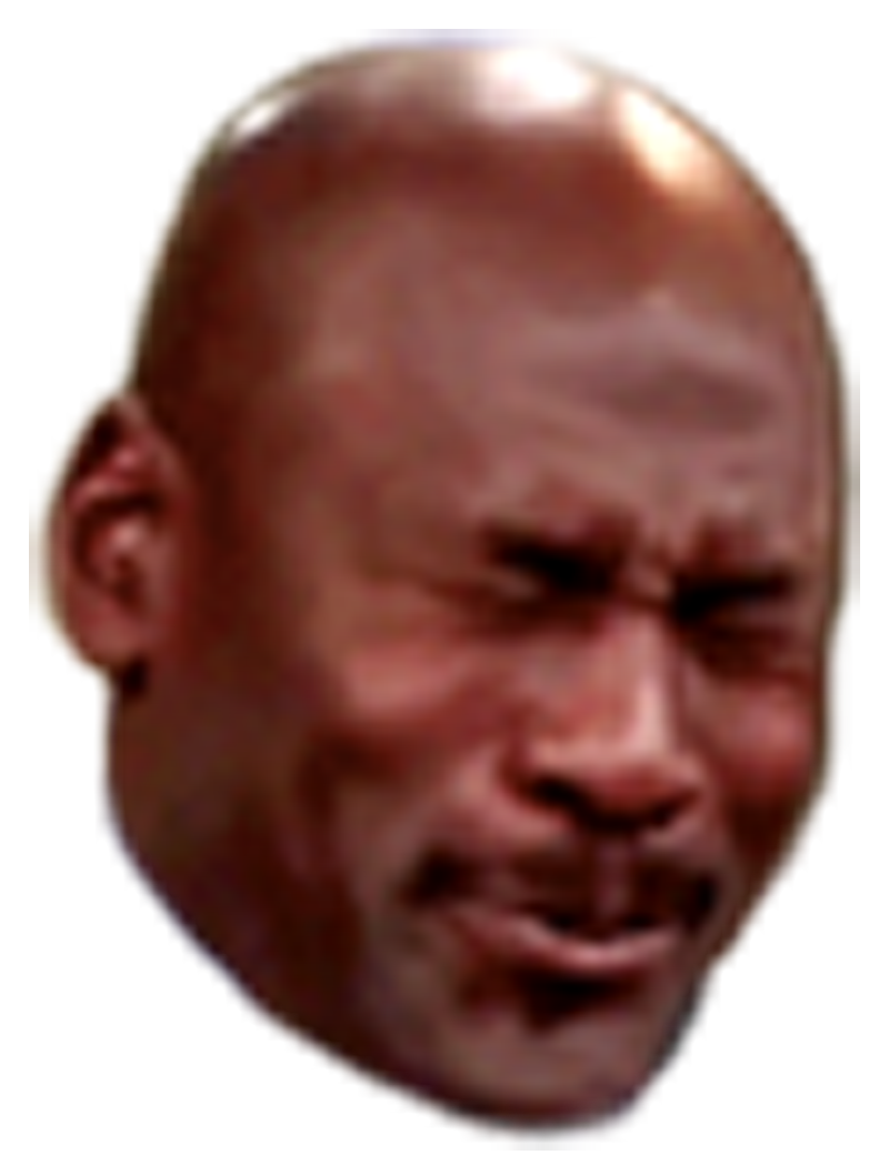 Mj crying face png. I think only one