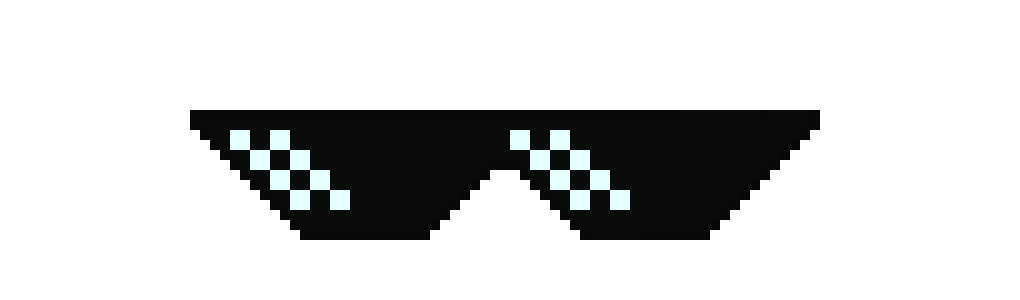 Mlg glasses png. Pixel art maker