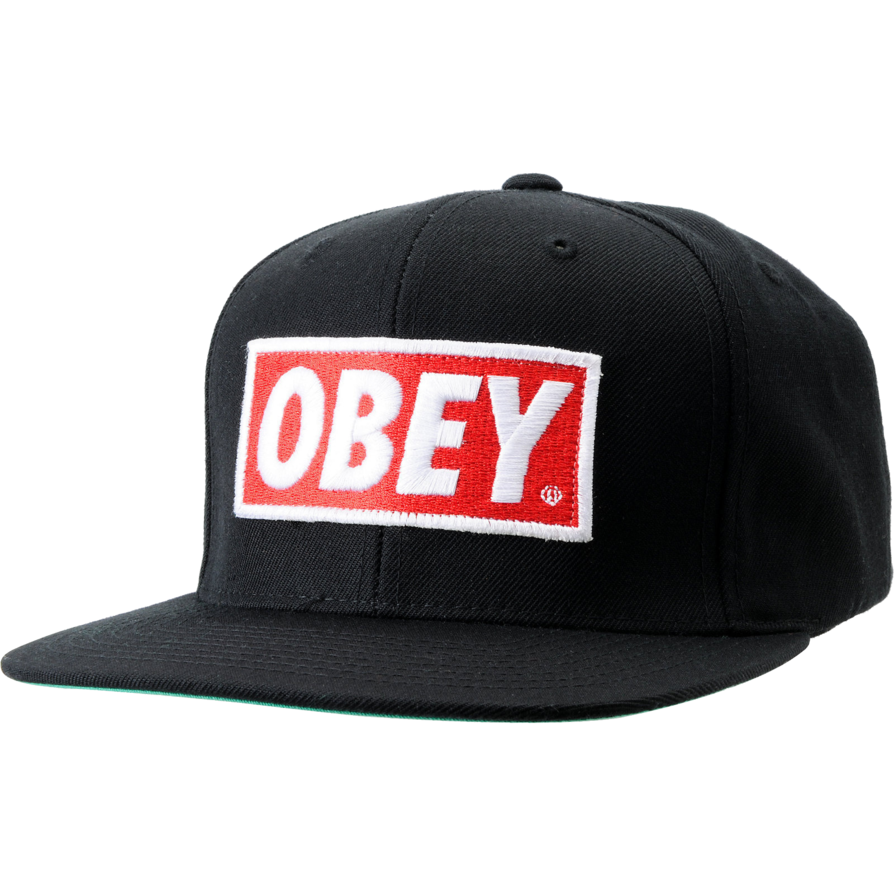 Transparent snapback obey. By haxisory on deviantart