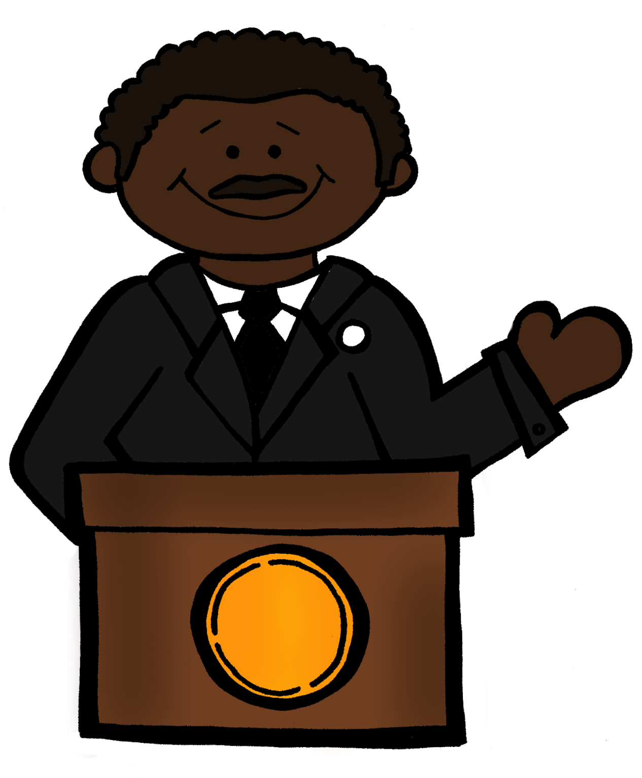 Mlk clipart cartoon. Free cliparts download clip