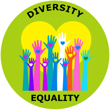 Mlk vector background. Diversity and equality sticker