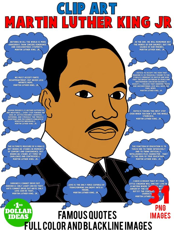 Martin luther king jr. The end clipart capable library