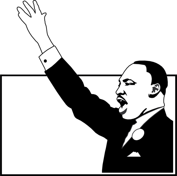 Mlk vector black and white. African american civil rights