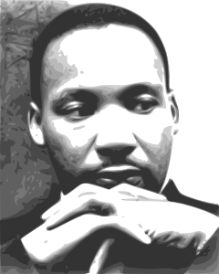 Mlk vector stencil. Martin luther king jr