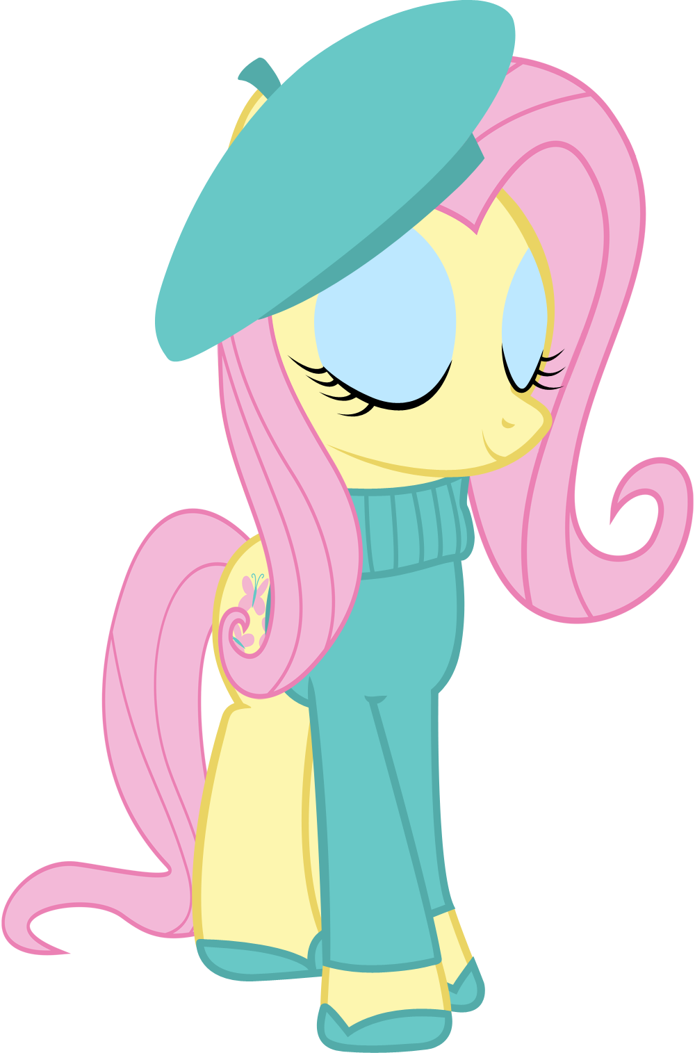 Mlp angel mud png. Fluttershy cool french by