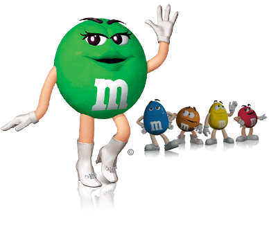 M&m characters png. Image char spotlight green