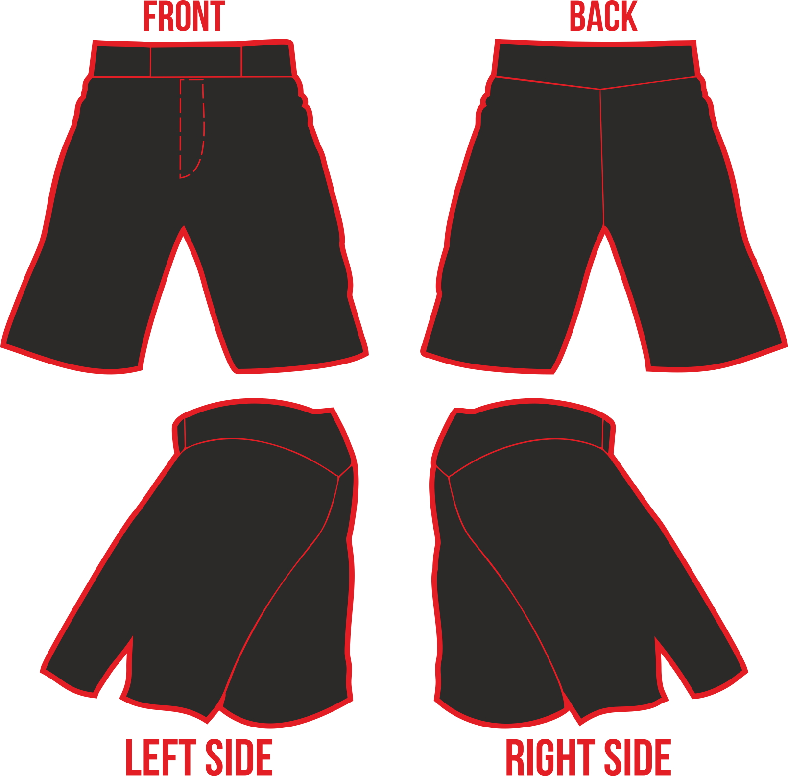 Mma vector short. Shorts template by patoxex