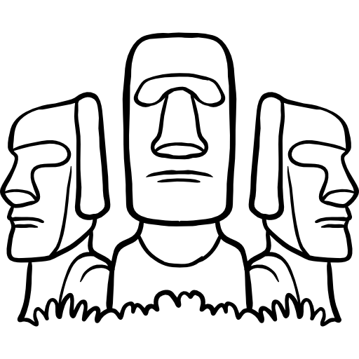 Moai drawing easy. Free monuments icons icon