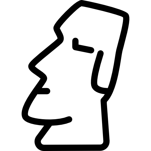 Moai drawing simple. Free monuments icons icon
