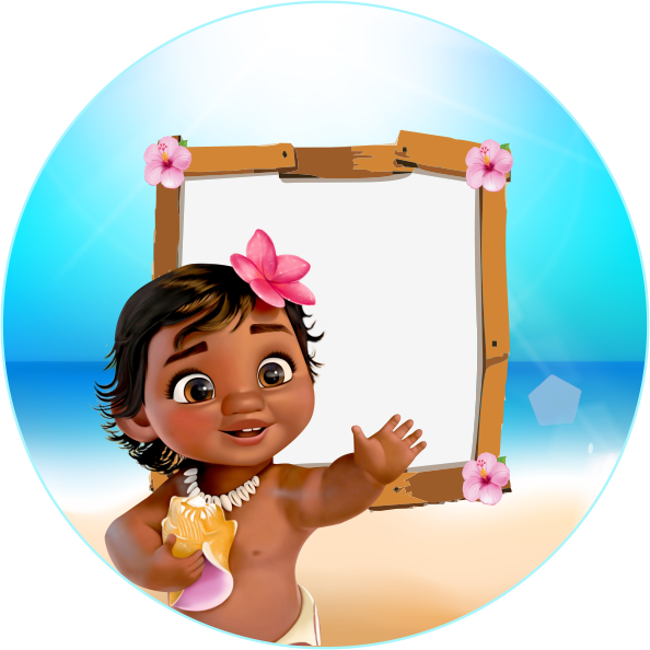 Wedding invitation infant shower. Moana baby png clipart transparent stock