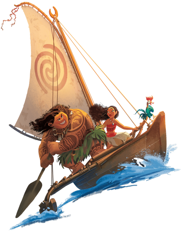 Drawing moana sailboat. In the book personalised