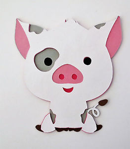 Moana clipart pua. The pig die cut