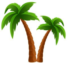 Palm clipart. Tree image tropical coconut