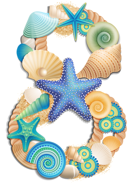 Moana letters png. Transparent number eight sea