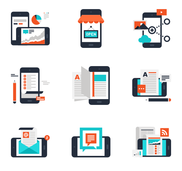 Mobile app icons png. Icon packs vector