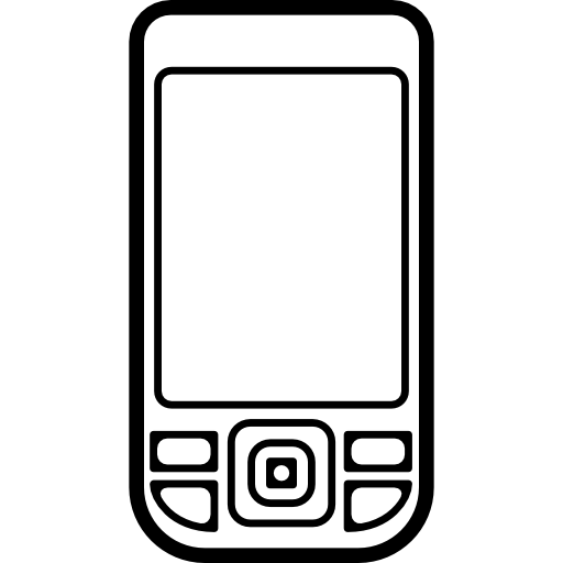 Mobile buttons png. Phone outlined shape with