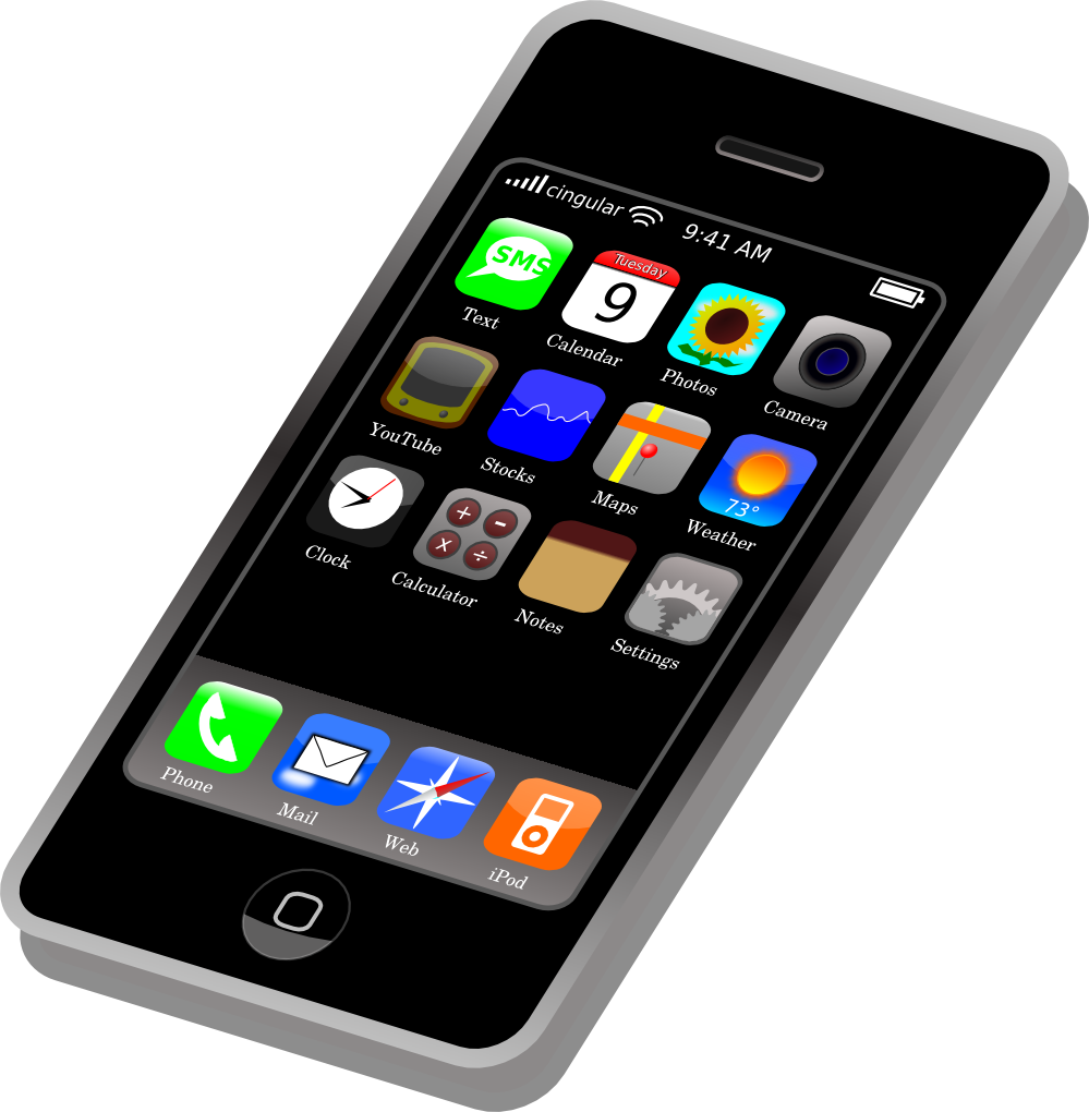 Mobile clipart cell phone. Telephone clip art free