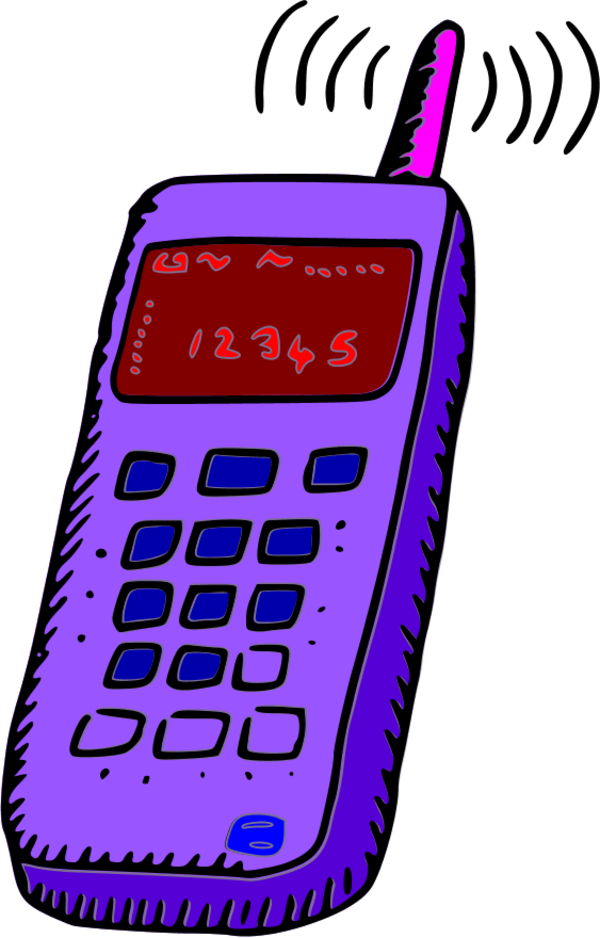 Mobile clipart satellite phone. Analogue vector clip art