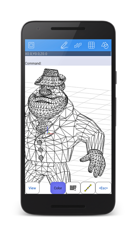 Samsung drawing cad. Android autoq d design