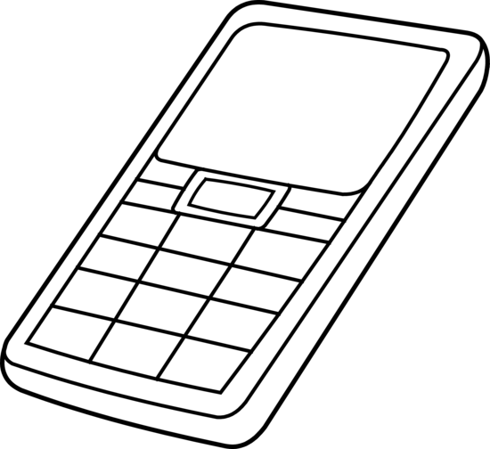 Mobile drawing cellular phone. Collection of free clipart