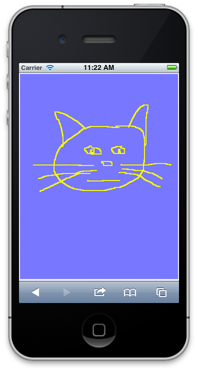 Mobile drawing gadget. Jquery html canvas touch