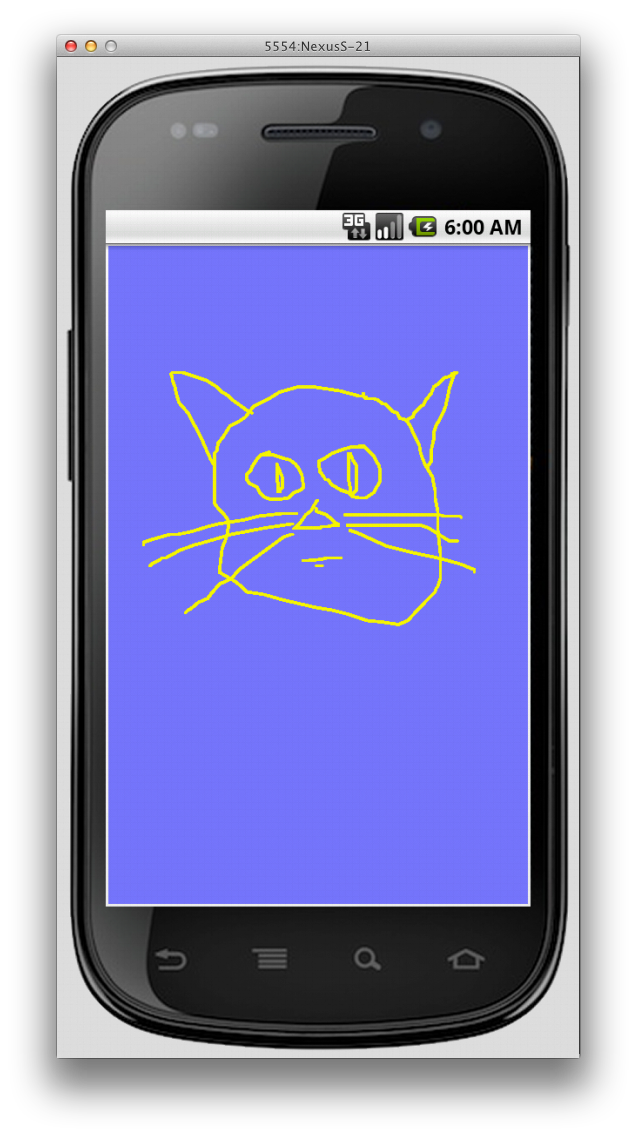 Mobile drawing phone text. The rock n coder