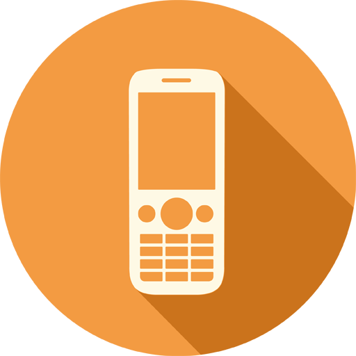 Mobile phone icon png. Long shadow media iconset
