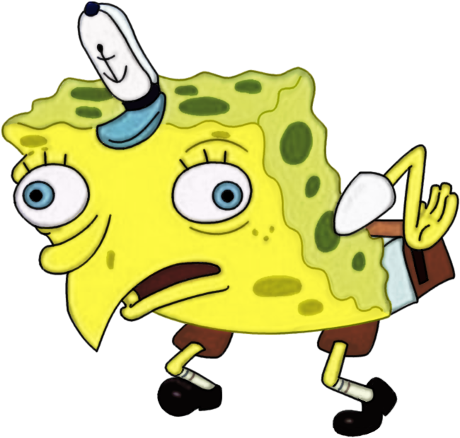 Mocking spongebob png. Better resolution by ncognito