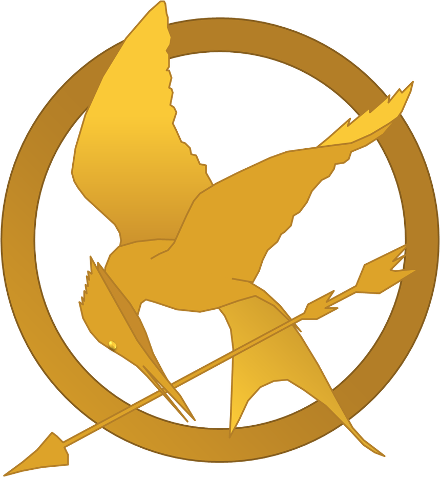 Mockingjay clip. Hunger games symbol by