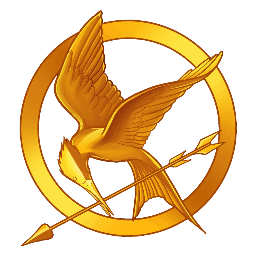 Mockingjay clip. The hunger games emblem