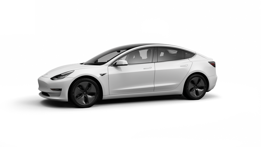 Model 3 png. Tesla long range