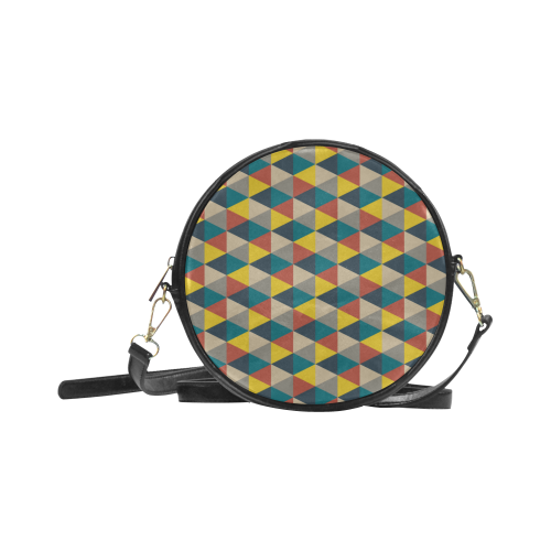 Luggage vector sling bag. Colorful geometric design and