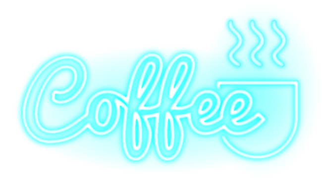 Model vector neon. Coffee light lighteffects png