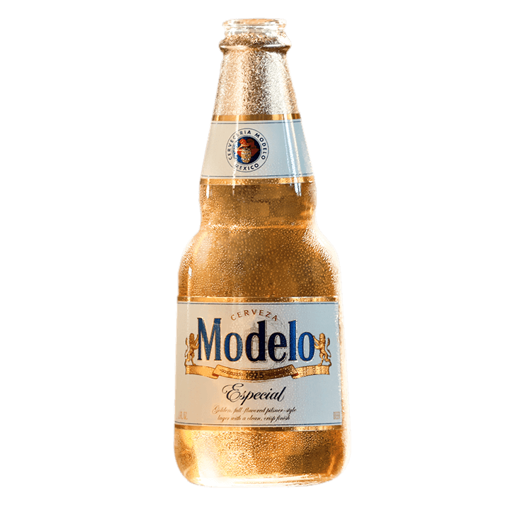 Transparent beer modelo. Casa mexican pilsnerstyle lager