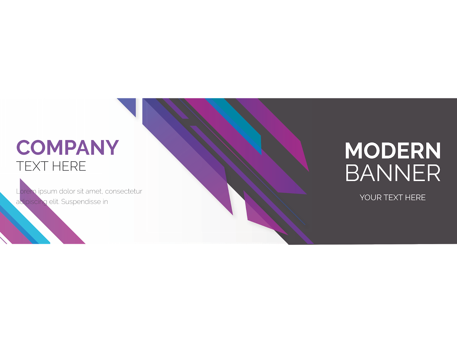 Ai vector background. Modern banner purple format